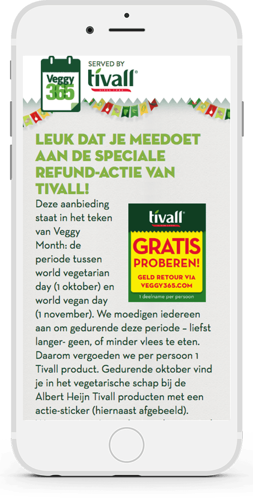 Tivall/Garden Gourmet - World Vegetarian Day - Qnippo's